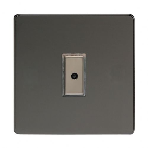 Varilight JDIE101S Screwless Iridium Black 1 Gang V-Pro Remote/Touch Master LED Dimmer 0-100W